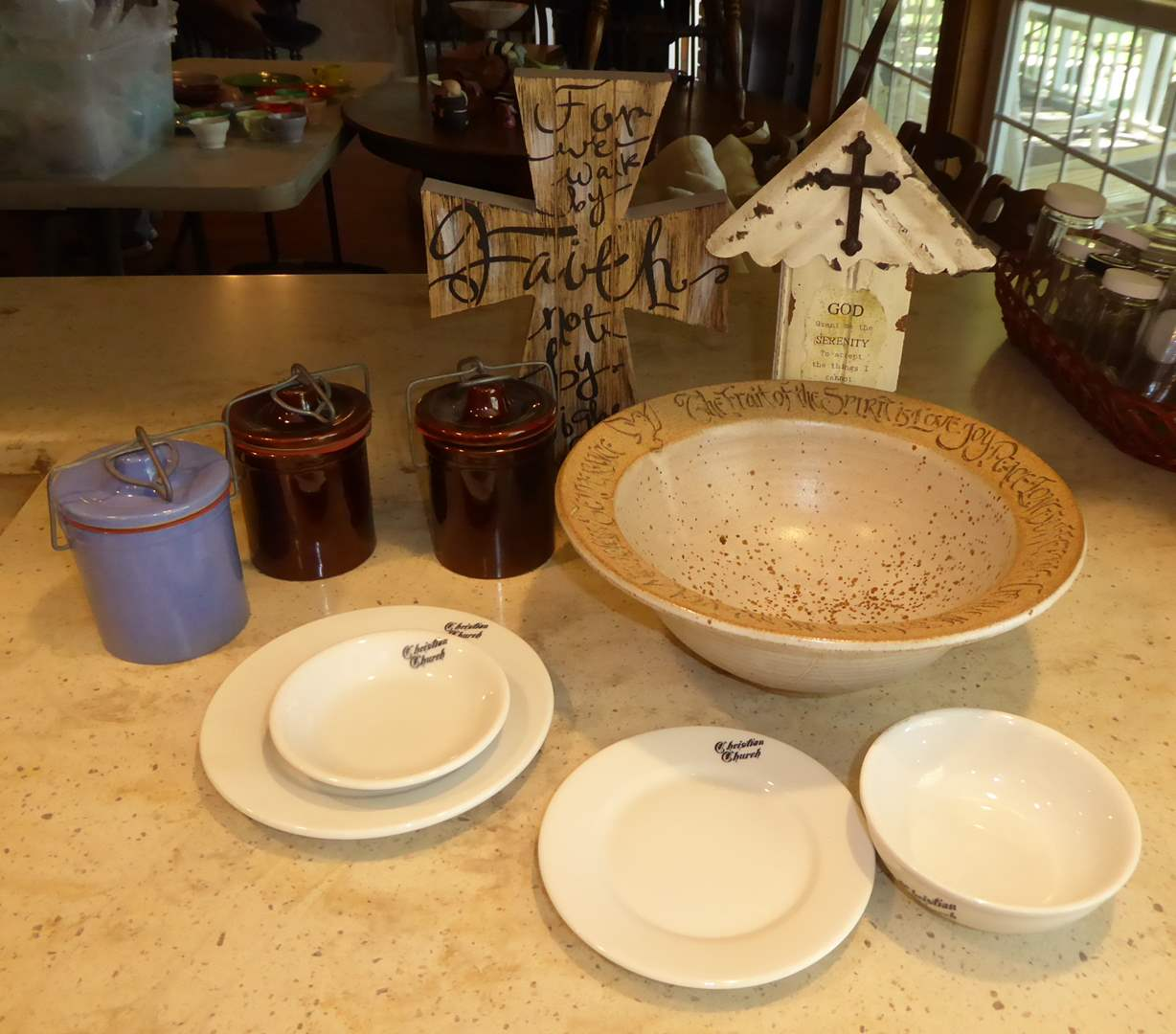 Lot # 17 - Vintage Christian Church Restaurant Ware & Fruits Of The Spirit Bowl  (main image)