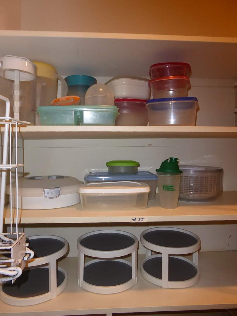 Lot # 25 - Lot Of Miscellaneous Kitchen Storage Containers & Pitchers  (main image)