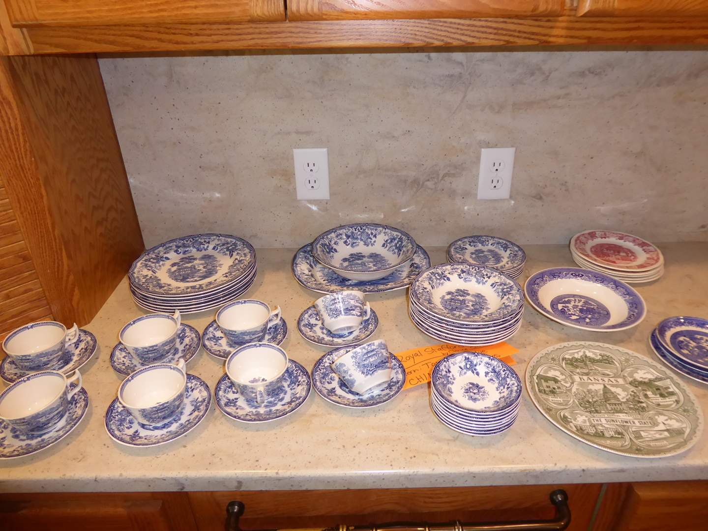"""Lot # 37 - Royal Staffordshire """"Tonquin Blue"""" & Other Transferware  (main image)"""