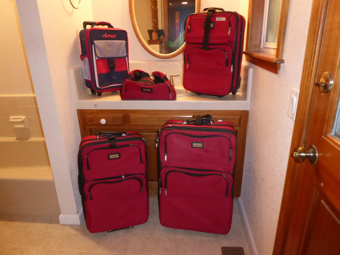 Lot # 200 - Red Luggage (Ciao & Bunkers)  (main image)