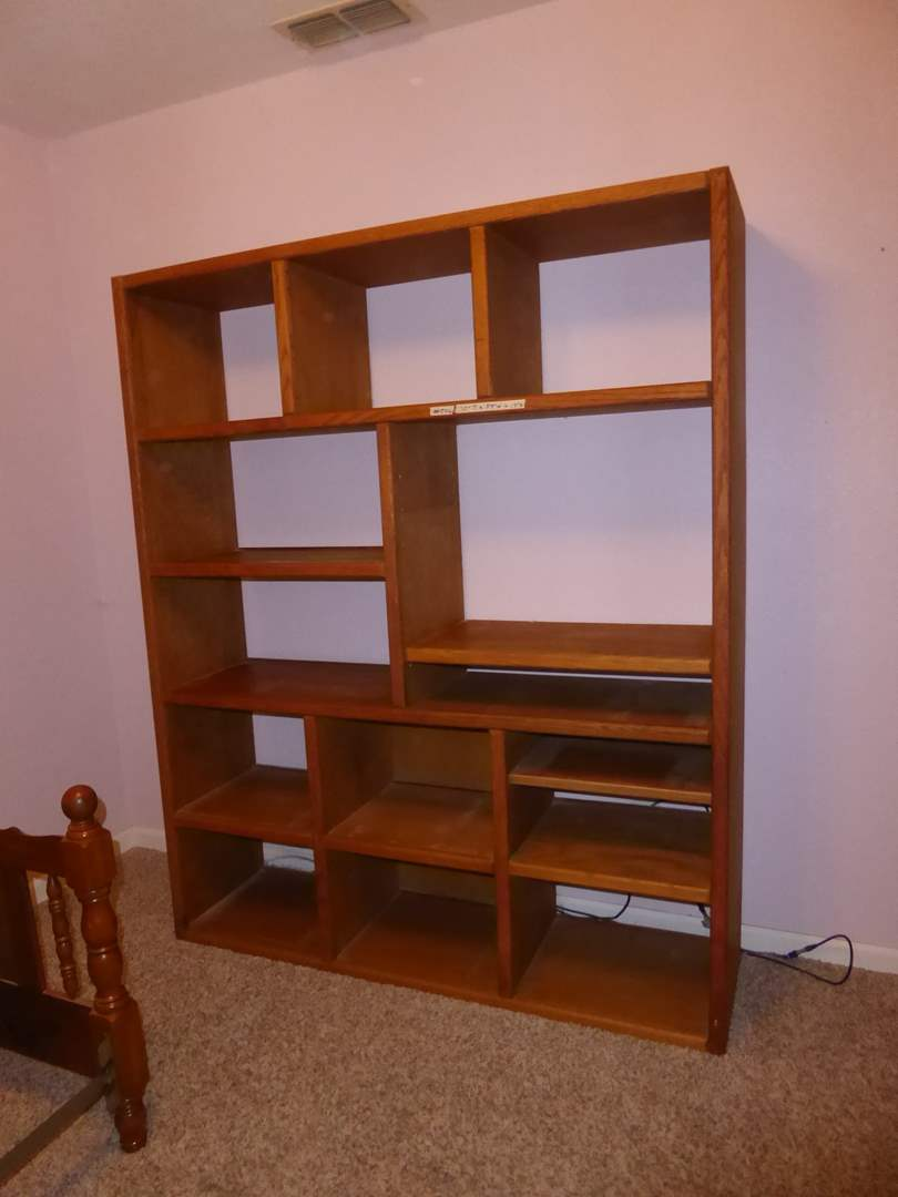 Lot # 206 - Large Solid Wood  Shelf (Some Of The Shelves Move)  (main image)