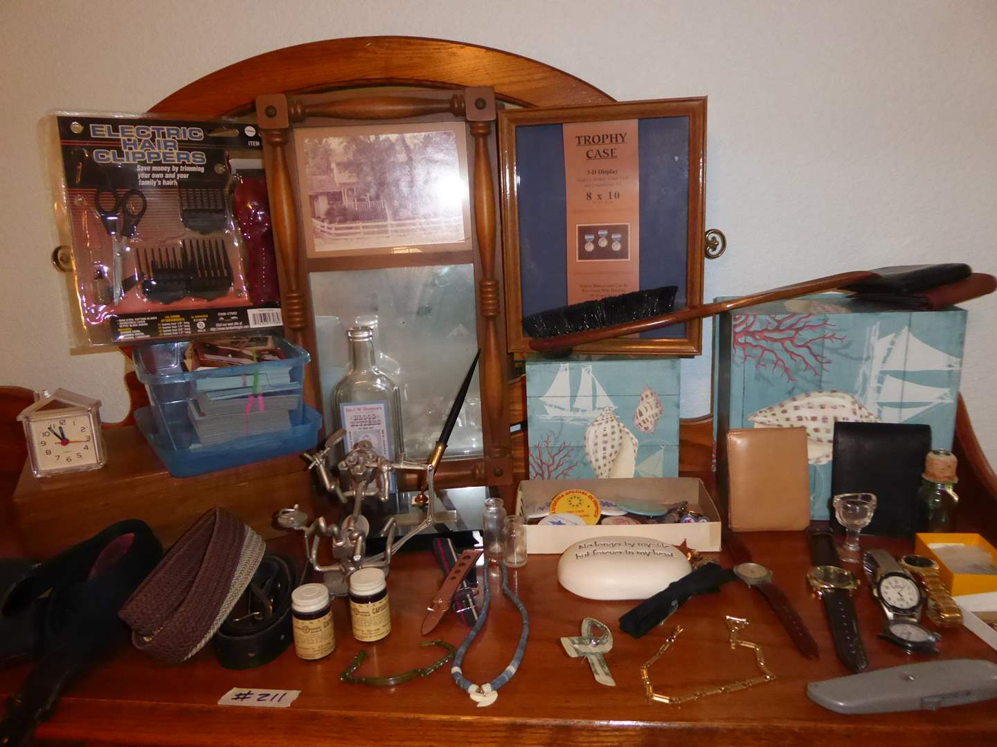 Lot # 211 - Lot Of Collectibles - Watches, Buttons, Cards & Men's Jewelry  (main image)