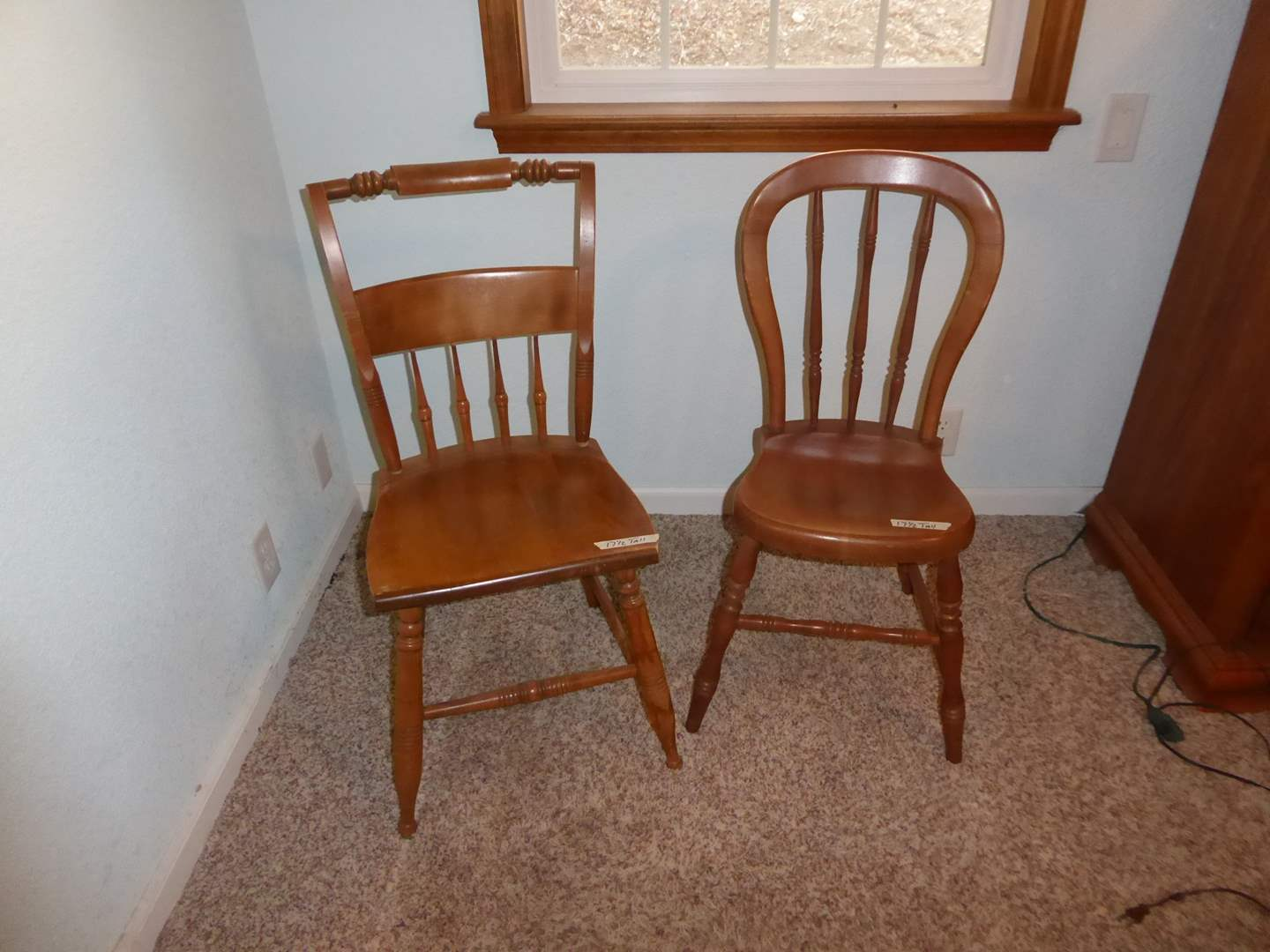 Lot # 217 - Two Cute Wooden Chairs (main image)