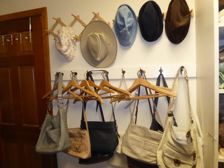 Lot # 219 - Hotel Hangers, Purses, Hats & Scarves   (main image)