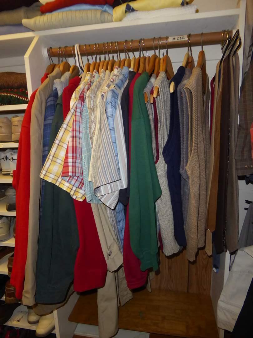 Lot # 222 - Men's Jackets, Shirts, Ties & Sweater Vests  (main image)