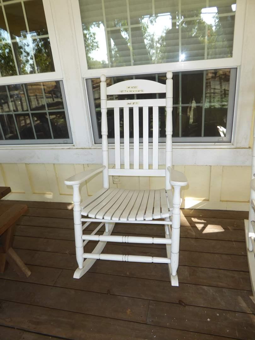 Lot # 230 - Cute White Rocking Chair  (main image)