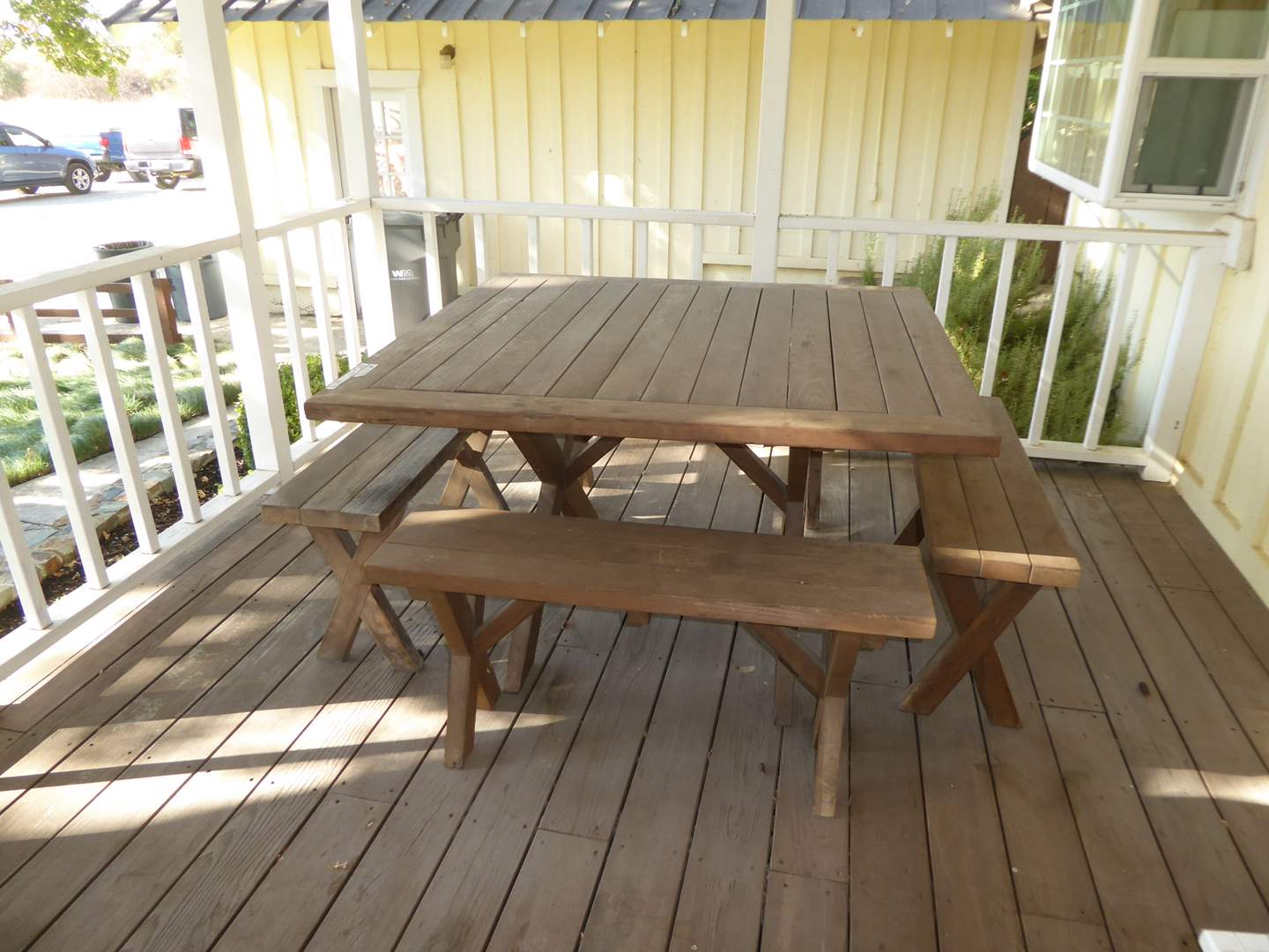 Lot # 232 - Nice Picnic Table With Four Benches  (main image)