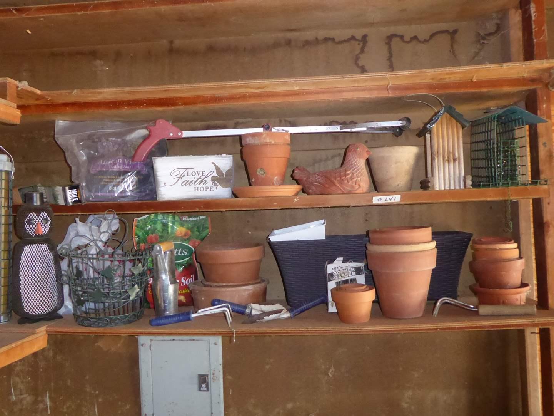 Lot # 241 - Terra Cotta Pots, Bird Feeders & Garden Items  (main image)