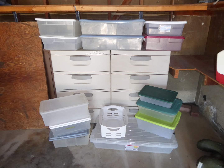 Lot # 243 - Sterilite Storage Drawers & Storage Containers  (main image)