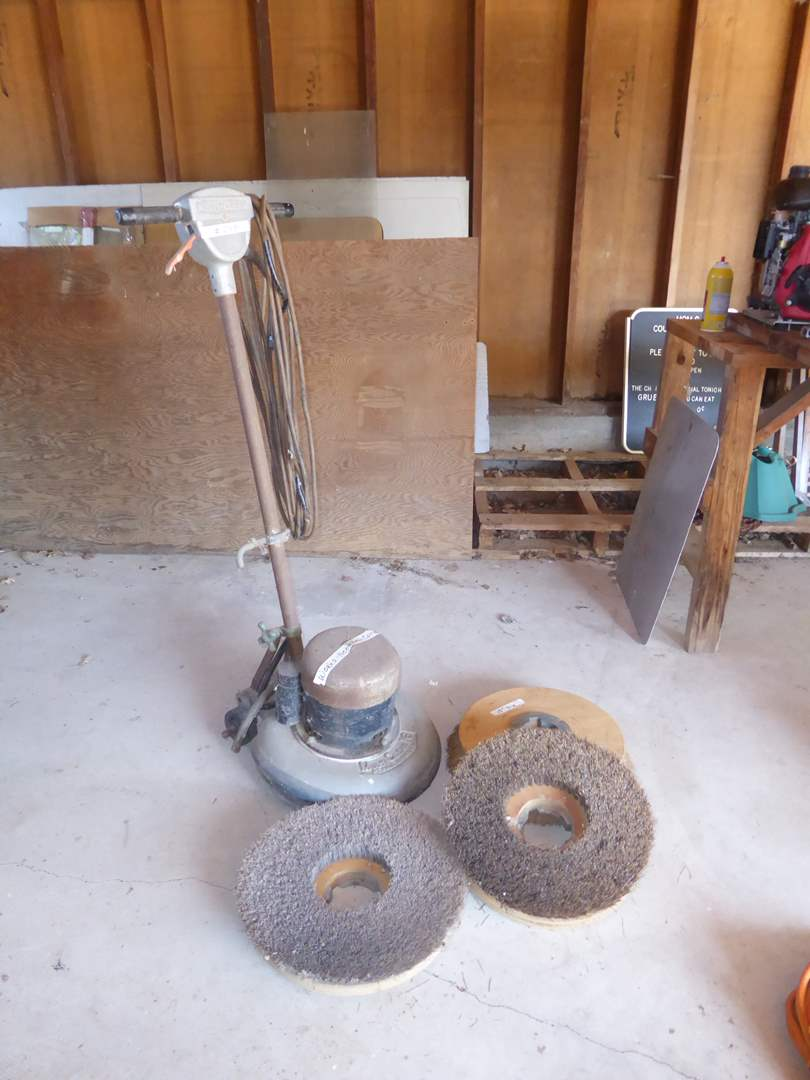 Lot # 248 - Vintage Multi- Clean 16 Floor Scrubber W/Brushes (main image)
