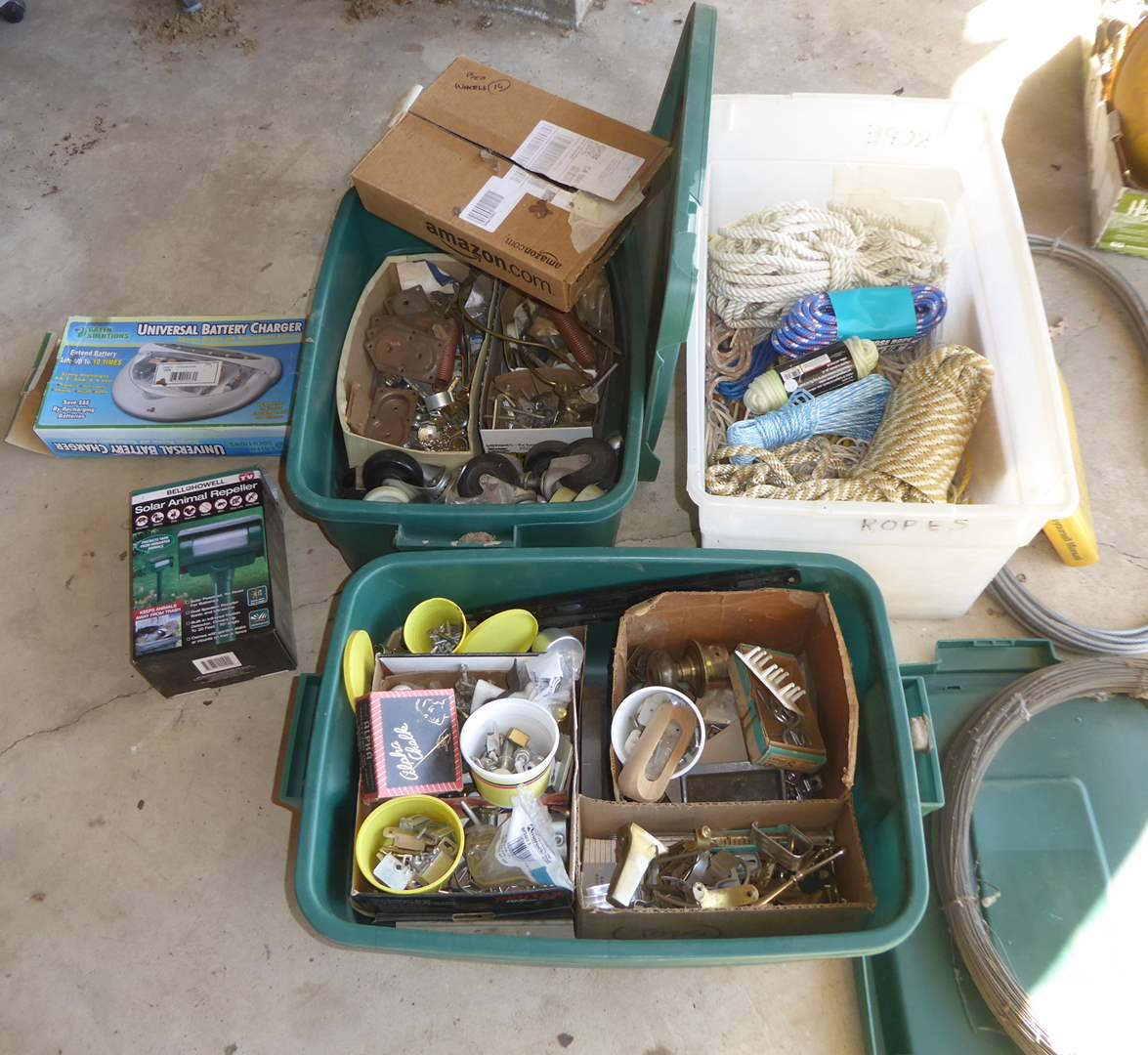 Lot # 263 - Rope, Casters, Door Knobs & Hardware  (main image)