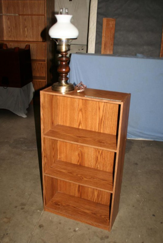 Lot #24 - Small bookcase and Table Lamp (main image)