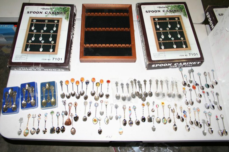 Lot #61 - Spoon Cabinets and Souvenir Spoons - Royal Family - (main image)