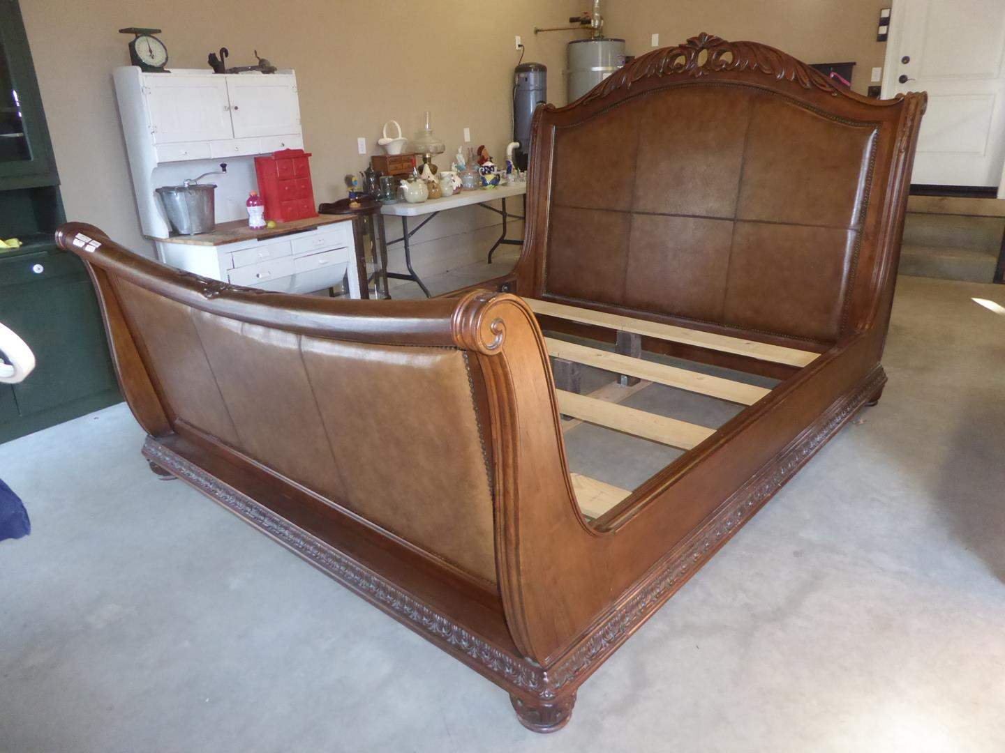 Lot # 50 - 'Pulaski' Wooden Furniture King Size Sleigh Bed (main image)