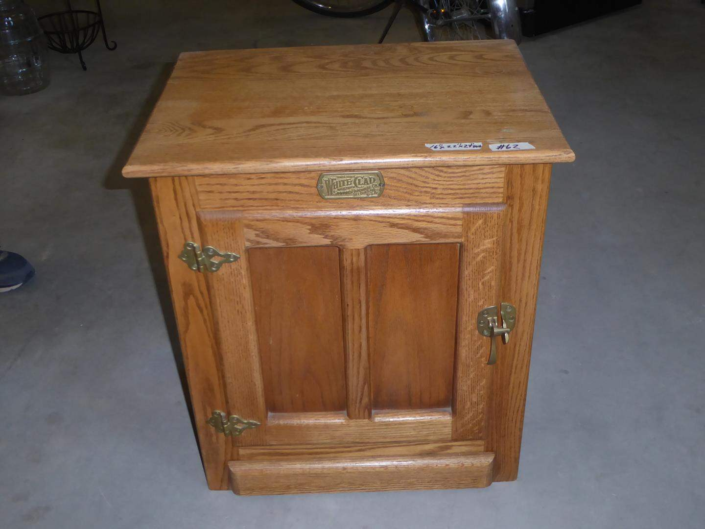 Lot # 62 -Solid Wood White Clad Ice Box End Table (main image)