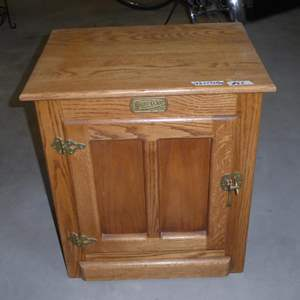 Lot # 62 -Solid Wood White Clad Ice Box End Table