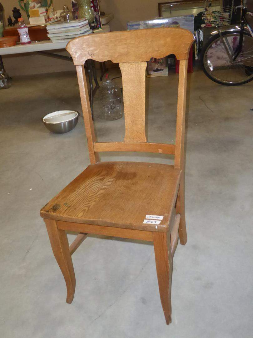 Lot # 63 - Vintage Solid Wood Accent Chair (main image)