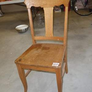 Lot # 63 - Vintage Solid Wood Accent Chair