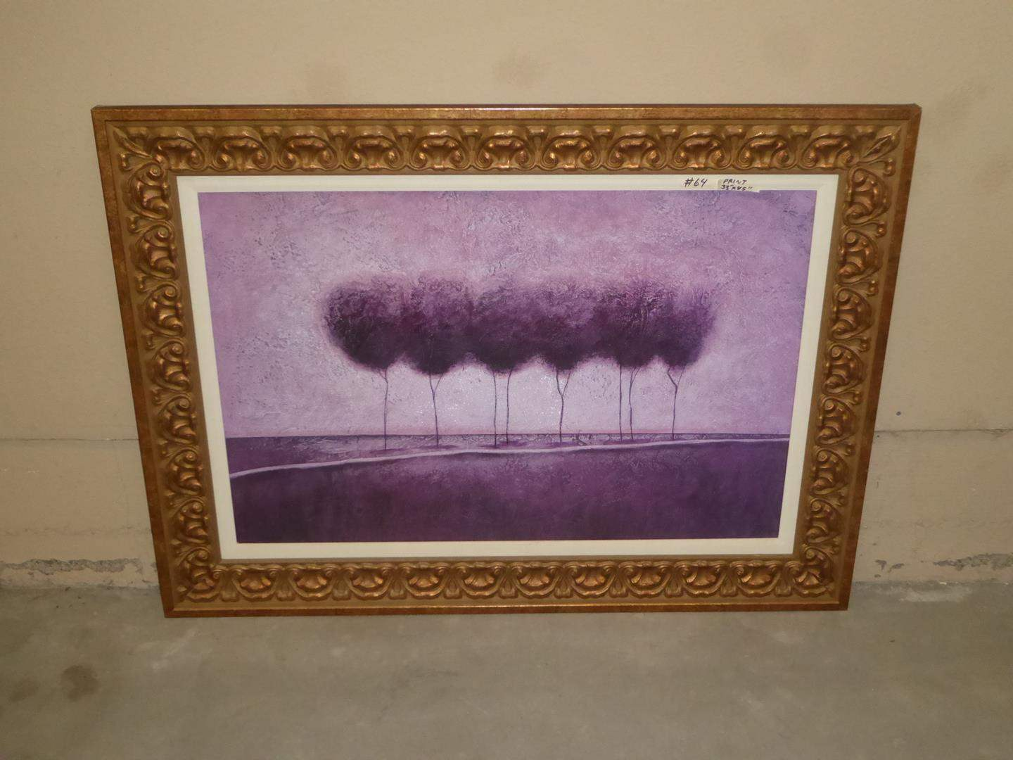 Lot # 64 - Large Beautifully Framed Print on Board (main image)