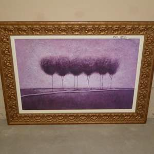Lot # 64 - Large Beautifully Framed Print on Board