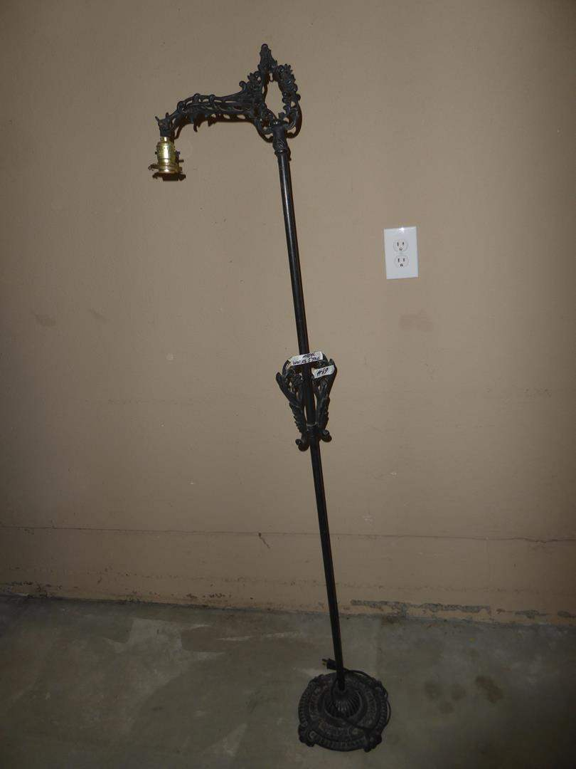Lot # 69 - Vintage Cast Iron Floor Lamp - Works (main image)