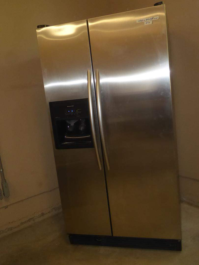 Lot # 74 - KitchenAid Side by Side Refrigerator w/Stainless Front (main image)