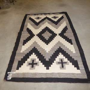 Lot # 75 - Antique Southwest Indian Navajo? Wool Rug