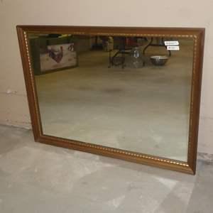 Lot # 77 - Vintage Wood Framed Wall Mirror
