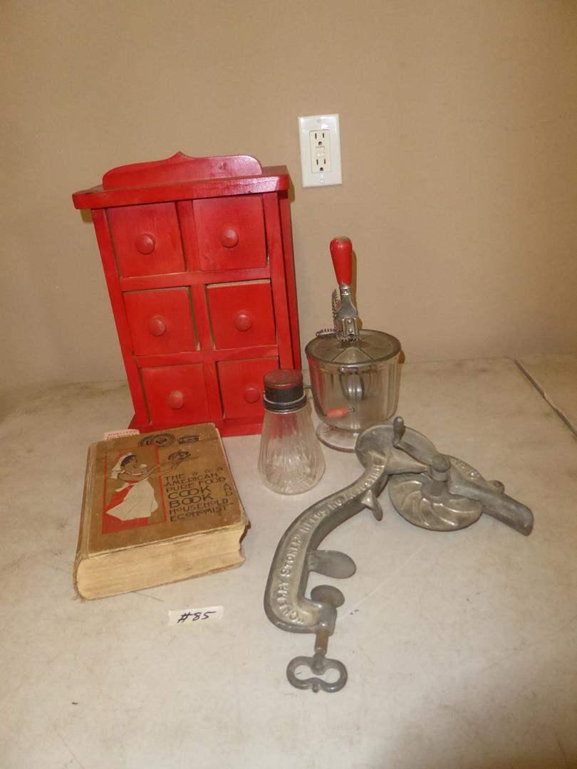 Lot # 85 - Vintage Kitchen Collectibles & Antique Cookbook (main image)