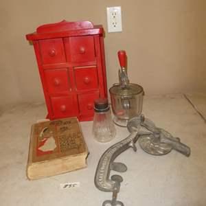 Lot # 85 - Vintage Kitchen Collectibles & Antique Cookbook