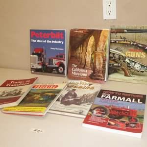 Lot # 97 - Vintage Trains, Trucking, Logging & Guns Books