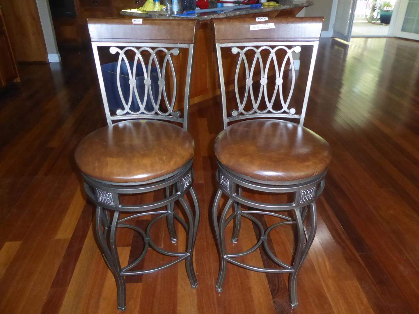 Lot # 156 - Pair Swivel Bar Stools (main image)