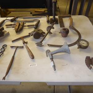 Lot # 233 - Vintage Ox Shoes & Vintage Tools
