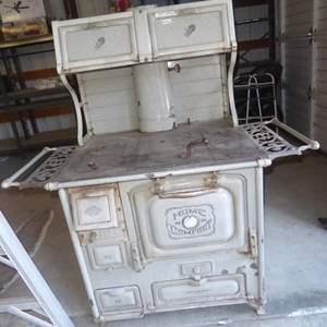 Lot # 246 - Wonderful Vintage Wrought Iron Range