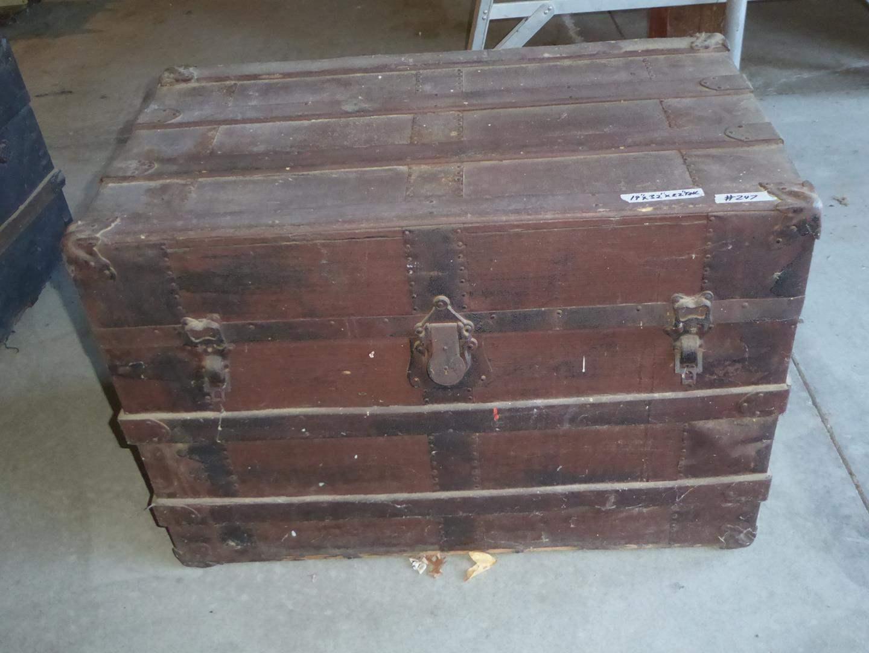 Lot # 247 - Vintage Steamer Trunk (main image)