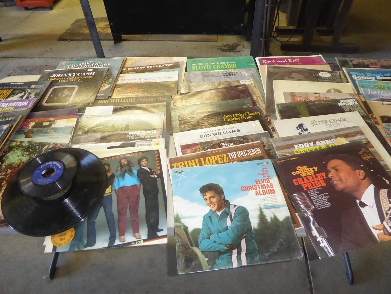 Lot # 254 - 50+ Vintage 33 rpm Vinyl Records Collection (main image)