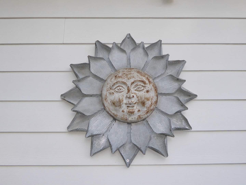 Lot # 2 - Handmade Metal Sun Wall Decor  (main image)