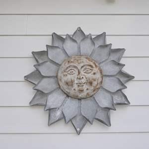 Lot # 2 - Handmade Metal Sun Wall Decor