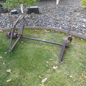 Lot # 13 - Antique Axle Yard Art