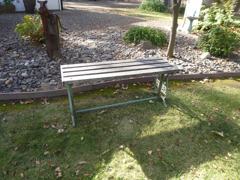Lot # 14 - Crown Cast Iron Garden Bench  (main image)