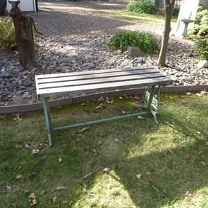 Lot # 14 - Crown Cast Iron Garden Bench