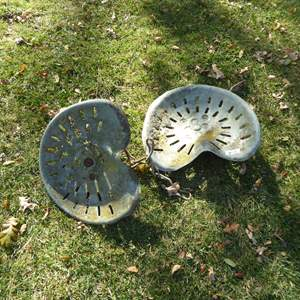 Lot # 18 - Two Vintage Tractor Seats