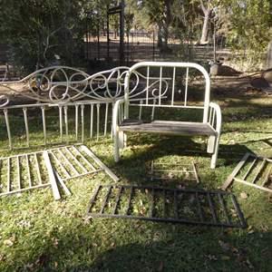 Lot # 22 - Garden Bench & Rails For Trellis