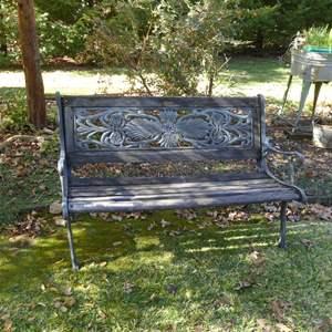 Lot # 28 - Cast Iron & Wood Garden Bench