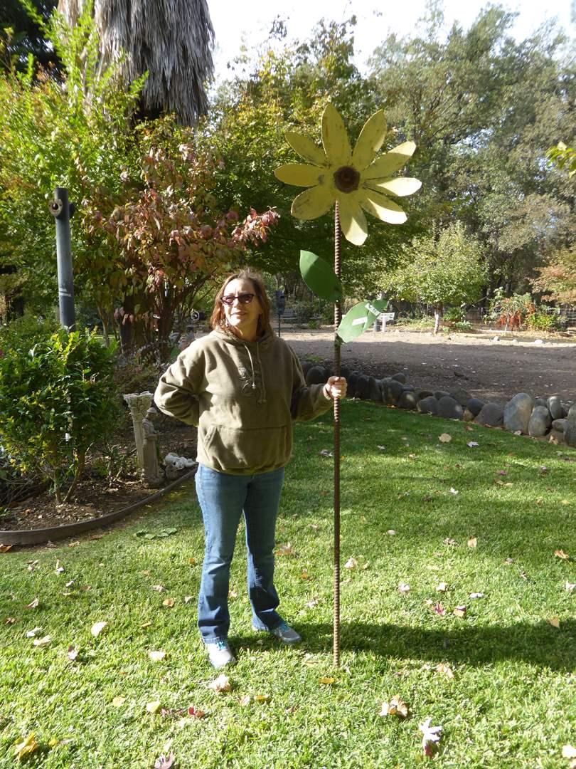 Lot # 38 - Metal Flower Garden Art  (main image)