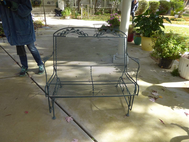 Lot # 39 - Outdoor Metal Patio Glider  (main image)