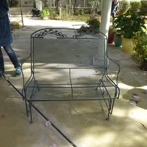 Lot # 39 - Outdoor Metal Patio Glider