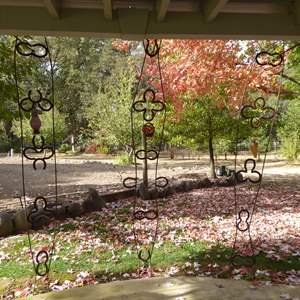 Lot # 40 - Three Handmade Horseshoe Garden Features