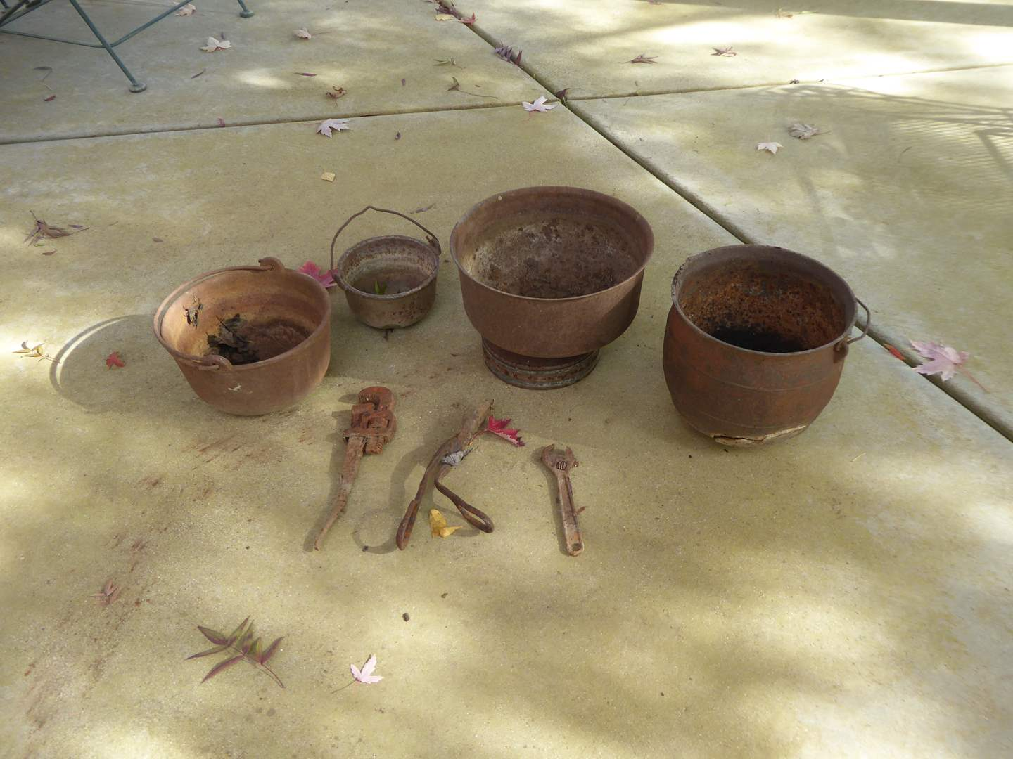 Lot # 41 - Rusty Cast Iron Garden Decor  (main image)