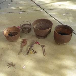 Lot # 41 - Rusty Cast Iron Garden Decor